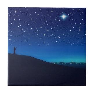 Azulejo oriental/Trivet do Natal da estrela