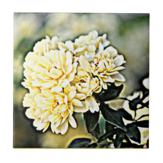 "Azulejo pequeno do ""conjuntos de flor amarelo """