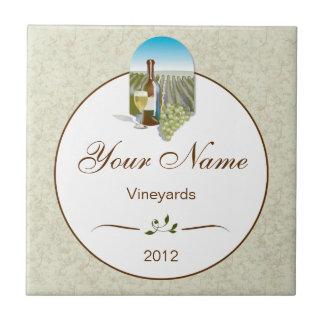 Azulejo personalizado Trivet do vinho