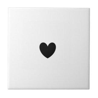 Azulejo preto do coração