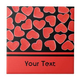 """Azulejo preto do """"texto"""" dos queridos"""
