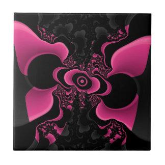 Azulejo preto e cor-de-rosa do Fractal da borbolet