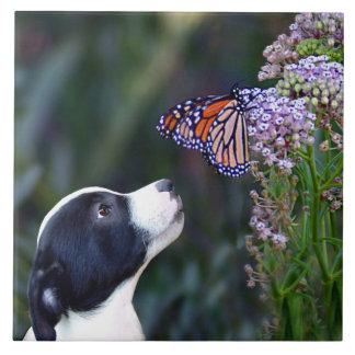 Azulejo querido da arte do filhote de cachorro e