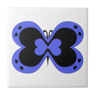 Azulejo roxo e preto da borboleta
