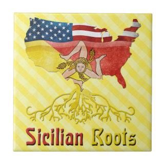 Azulejo siciliano americano das raizes