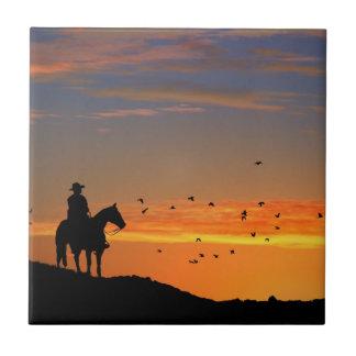 Azulejo solitário da arte do vaqueiro