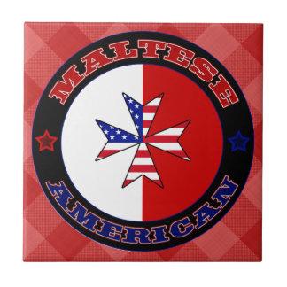 Azulejo transversal americano maltês da bandeira