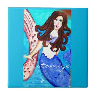 azulejo triguenho azul da sereia
