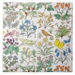 Azulejo Trivet da arte do jardim do Apothecary de