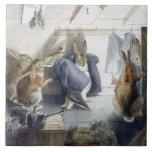 Azulejo Trivet da arte dos coelhos do Natal de Bea