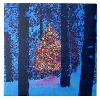 Azulejo Trivet da árvore de Natal