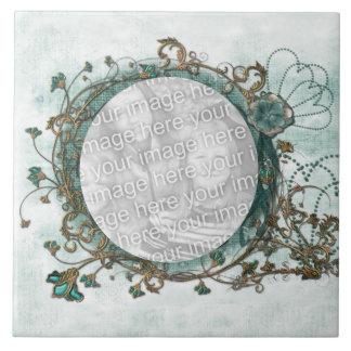 Azulejo Trivet da foto do Natal