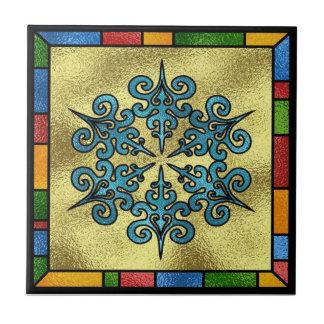 Azulejo Trivet do floco de neve do inverno