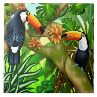 Azulejo tropical da selva de Toucan