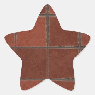 Azulejo vermelho adesivo estrela