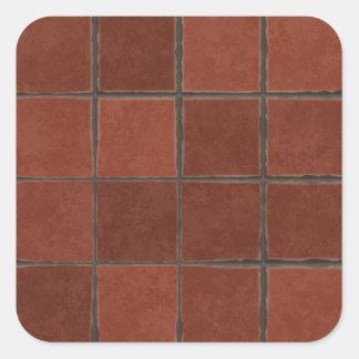 Azulejo vermelho adesivo quadrado