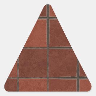 Azulejo vermelho adesivo triangular