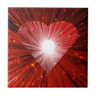 Azulejo vermelho do coração