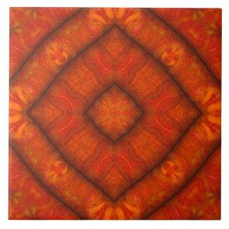 Azulejo Vermilion da Diamante-Mandala da