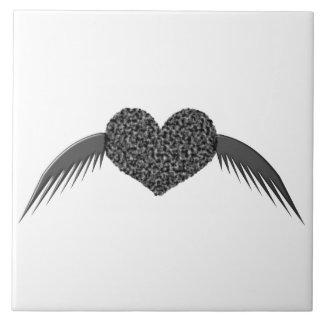 Azulejo voado gótico do coração do amor