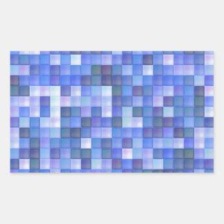 Azulejos azuis adesivo retangular