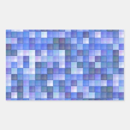 Azulejos azuis adesivo em forma retangular