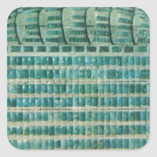 azulejos azuis da cerceta adesivo quadrado