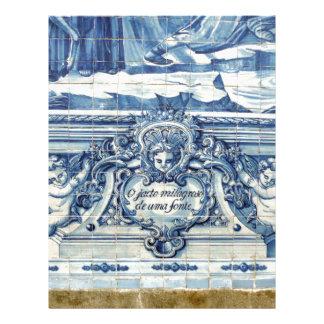 Azulejos azuis de Portugal Papel Timbrado