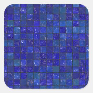 Azulejos azuis do banheiro adesivo quadrado