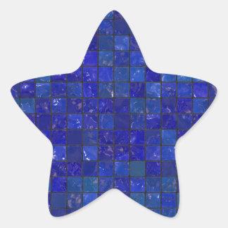 Azulejos azuis do banheiro adesito estrela