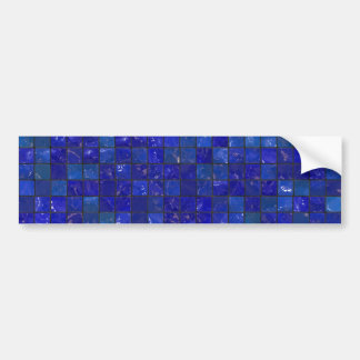 Azulejos azuis do banheiro adesivo para carro