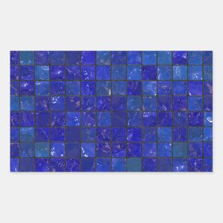 Azulejos azuis do banheiro adesivo retangular