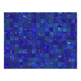 Azulejos azuis do banheiro convite 10.79 x 13.97cm