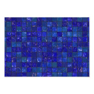 Azulejos azuis do banheiro convite 8.89 x 12.7cm