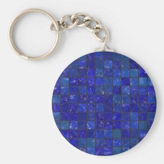 Azulejos azuis do banheiro chaveiro