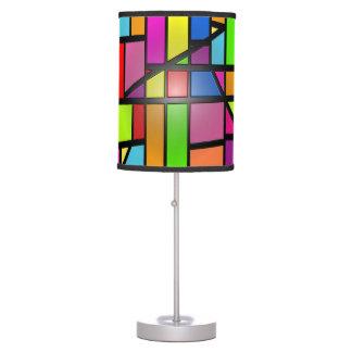 Azulejos brilhantes abstratos coloridos luminária de mesa