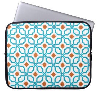 Azulejos da laranja do azul capa para laptop