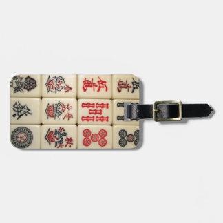 Azulejos de Mahjong Etiqueta De Bagagem