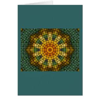 Azulejos de mosaico cartão comemorativo