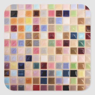 Azulejos de mosaico do vintage adesivo quadrado