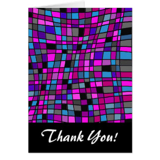 Azulejos de mosaico do vitral em matiz roxas cartoes