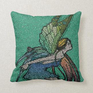 Azulejos de mosaico feericamente da borboleta travesseiros