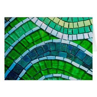 Azulejos de mosaico verdes cartão comemorativo