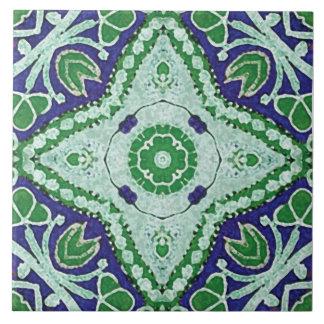 azulejos do Batik-estilo, teste padrão floral