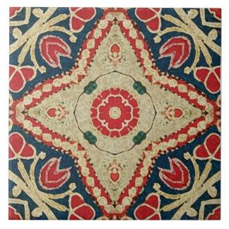 azulejos do Batik-estilo, teste padrão floral, ver