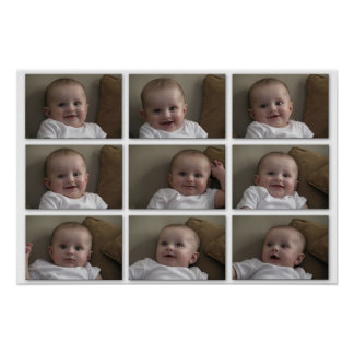 Azulejos do bebê pôster