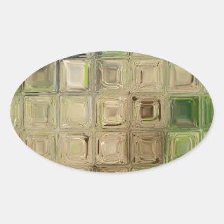 Azulejos do vidro verde adesivo oval