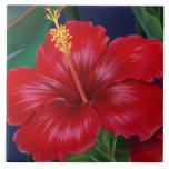 Azulejos havaianos & Trivet do hibiscus do paraíso