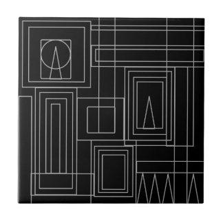 Azulejos monocromáticos da parede do art deco