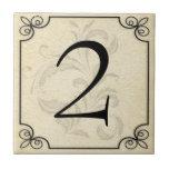 Azulejos personalizados do número